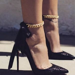 Jewelry - 💥[2 for $20]💥 Black Ribbon Anklet Bracelets
